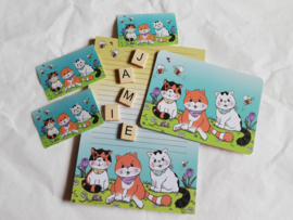 Jamie the Cat and Family set