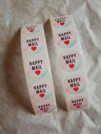 Cadeausticker Happy Mail Roze