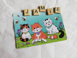 Jamie the Cat and Family ansichtkaart
