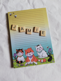 Jamie the Cat and Family (blok A5)