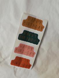 Cadeausticker Happy Birthday