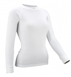 Thermoshirt lange mouw wit - Dames