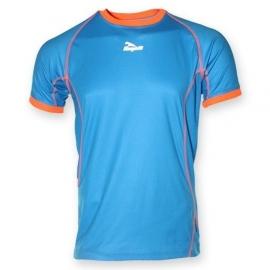 Hardloopshirt Heren korte mouw - lichtblauw / oranje