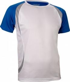 Hardloopshirt Heren korte mouw - wit / blauw