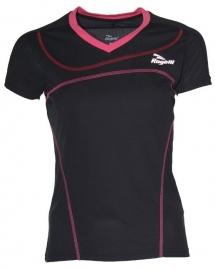 Hardloopshirt Dames korte mouw - zwart / roze