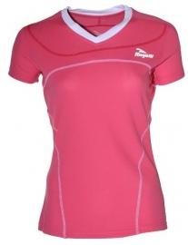 Hardloopshirt Dames korte mouwen - roze / wit