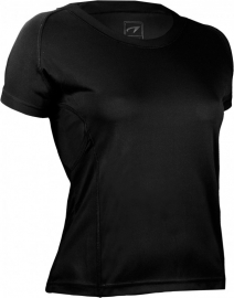 Hardloopshirt Dames korte mouwen - zwart