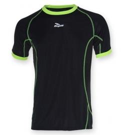 Hardloopshirt Heren korte mouw - zwart / fluorgeel