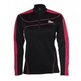 Hardloopshirt Dames Lange mouw zwart / roze