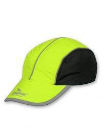 Runningcap Fluorgeel / Zwart