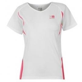 Hardloopshirt Dames korte mouwen - wit / roze