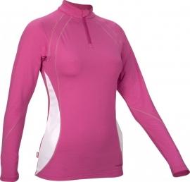 Hardloopshirt Lange mouw - Dames - Roze / Wit