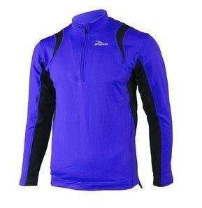 Hardloopshirt Lange mouw - Heren - Blauw / Zwart