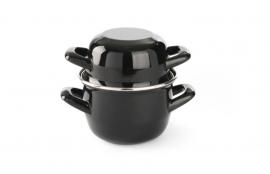 625606 Soep-sauspannetje geëmailleerd Ø 120 mm zwart