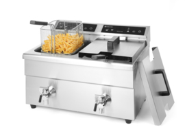 215029 Inductie Friteuse Kitchen Line 2 x 8 liter