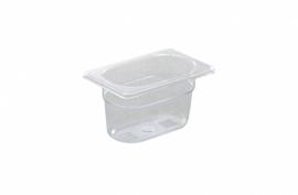 861837 Gastronormbak GN 1/9  0,6 liter polycarbonaat