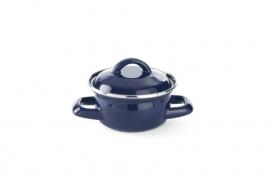 625804 Soep-sauspannetje geëmailleerd Ø 120 mm blauw