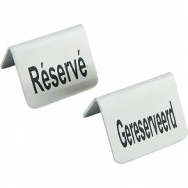 """663691 Tafelstandaard """"GERESERVEERD / RESERVE"""" SET VAN 4"""
