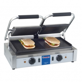 263907 Contactgrill links glad en rechts geribd