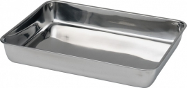 508107 Vleesbak 260 x 200 mm RVS