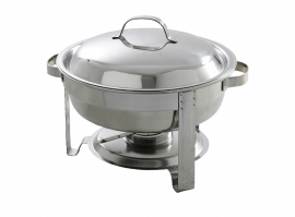 470619 Chafing dish rond  3,5 liter