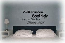 Muursticker Woon- of slaapkamer