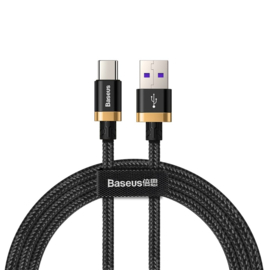 Baseus Purple Gold Red Universeel USB-C kabel 40W Quick Charge QC 3.0 1M
