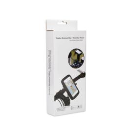 Waterdichte hoes en houder voor telefoon montage op stuur of spiegel motor scooter