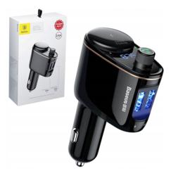 Baseus Locomotive Bluetooth FM Transmitter Autolader 2 USB 3.4A Carkit