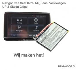 Accu Batterij voor Navigon 70 71 Seat Mii Volkswagen Up Skoda Citigo