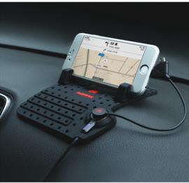Universeel telefoon dashboardhouder met oplader micro usb en lightning