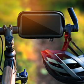 Fiets en motorhouder voor telefoon waterdichte hoes en zonnescherm