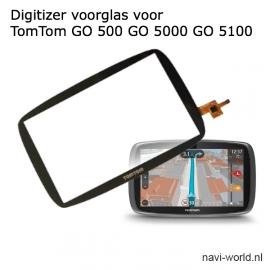Digitizer voorglas touchscreen voor TomTom GO 500 GO 510 GO 5000 GO 5100 5250