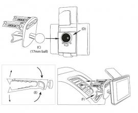 Luchtrooster steun autohouder voor Garmin Nuvi 50 50LM GPS