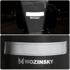 Wozinsky fietstas bagagedrager 6L met opbergvakjes zwart
