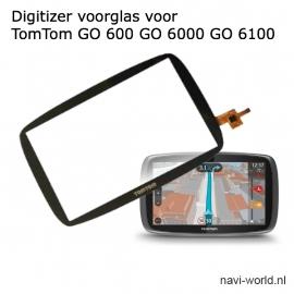 Digitizer touchscreen voorglas voor TomTom GO 600 GO 610 GO 6000 GO 6100