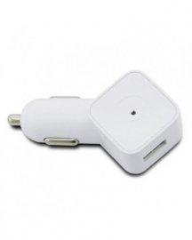 Muvit USB Autolader SQ Wit 1000mAh universele oplader voor smartphone