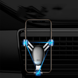Baseus Mini Gravity Holder telefoonhouder luchtrooster auto zwart