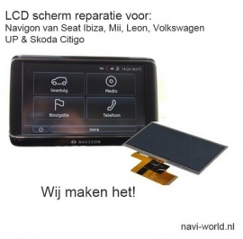 LCD display scherm voor Navigon VW UP Skoda CityGo Seat Mii