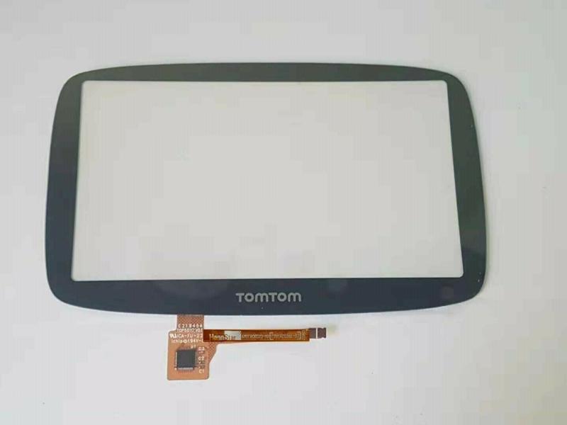 Digitizer touchscreen voorglas TomTom Go 5100 5000 7250 Hanna Star Versie