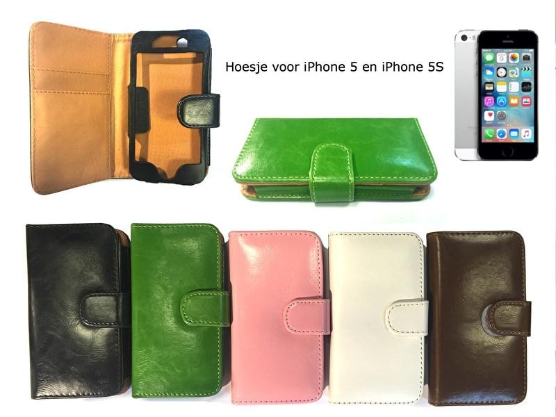 iPhone 5S 5G Portemonnee hoesje diverse kleuren