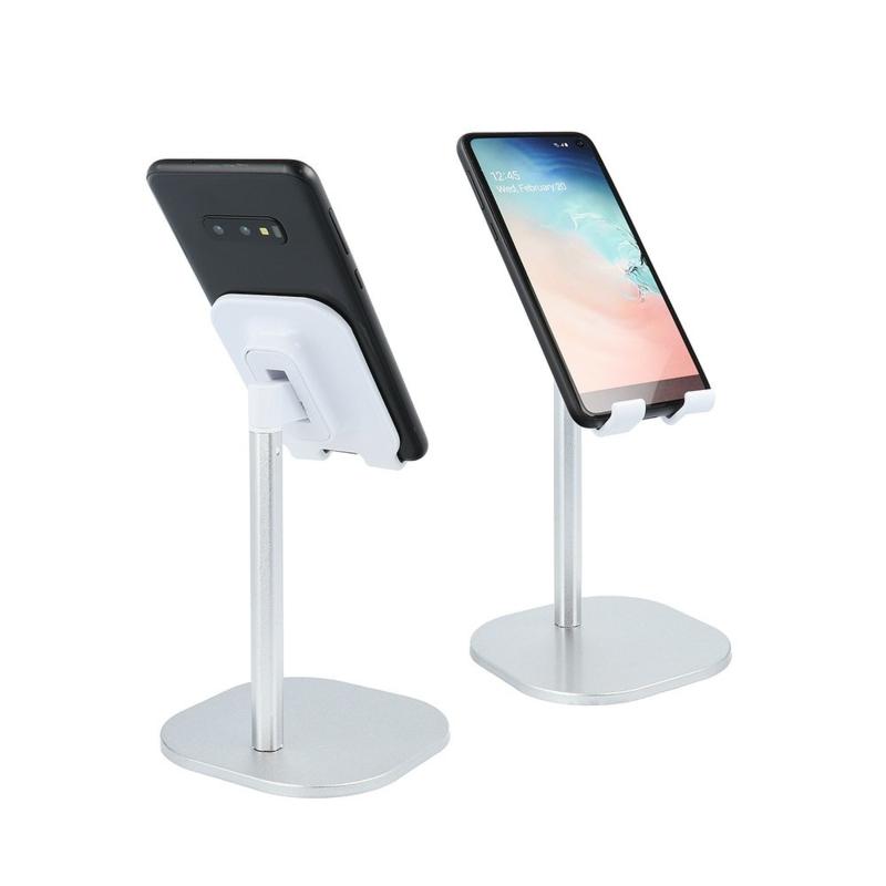 Standaard Statief voor Bureau of Tafel voor telefoon en tablet zilver