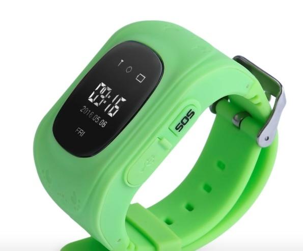 GPS horloge voor kind en senioren met tracker en SOS bel alarm functies groen
