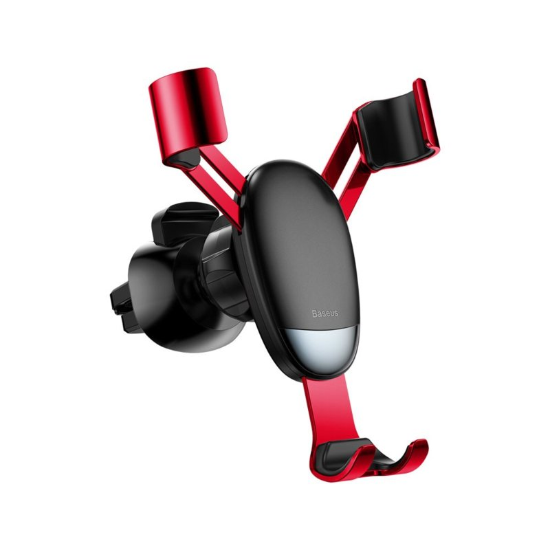 Baseus Mini Gravity Holder telefoonhouder luchtrooster auto rood