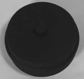 EW/Ø100 losse deksel met kondens afvoer voor T-stuk - zwart