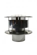 Holetherm Ø150mm EW Trekkende regenkap met gaas #DH129113