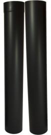 EW/Ø130mm Kachelpaspijp 105 - 195cm (zon. verjonging) Kleur: zwart DUN500009