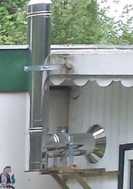 Compleet pakket voor stacaravan of chalet langs de gevel Holetherm DW150