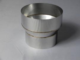 Verloopstuk conische rvs 78 - 125 mm