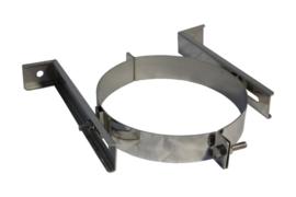 Muurbeugel RVS Blank Ø250mm - Zwart